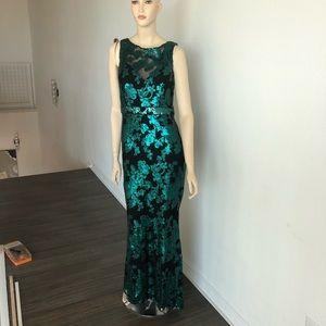 Badgley Mischka sequin formal evening dress
